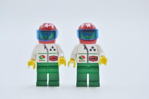 LEGO 2 x Figur Minifigur Octan Helm rot Sterne oct042 aus Set 6468