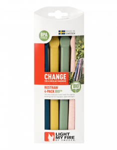Light My Fire ReStraw BIO 4-pack Reusable Straws Compact Hydration Drinking
