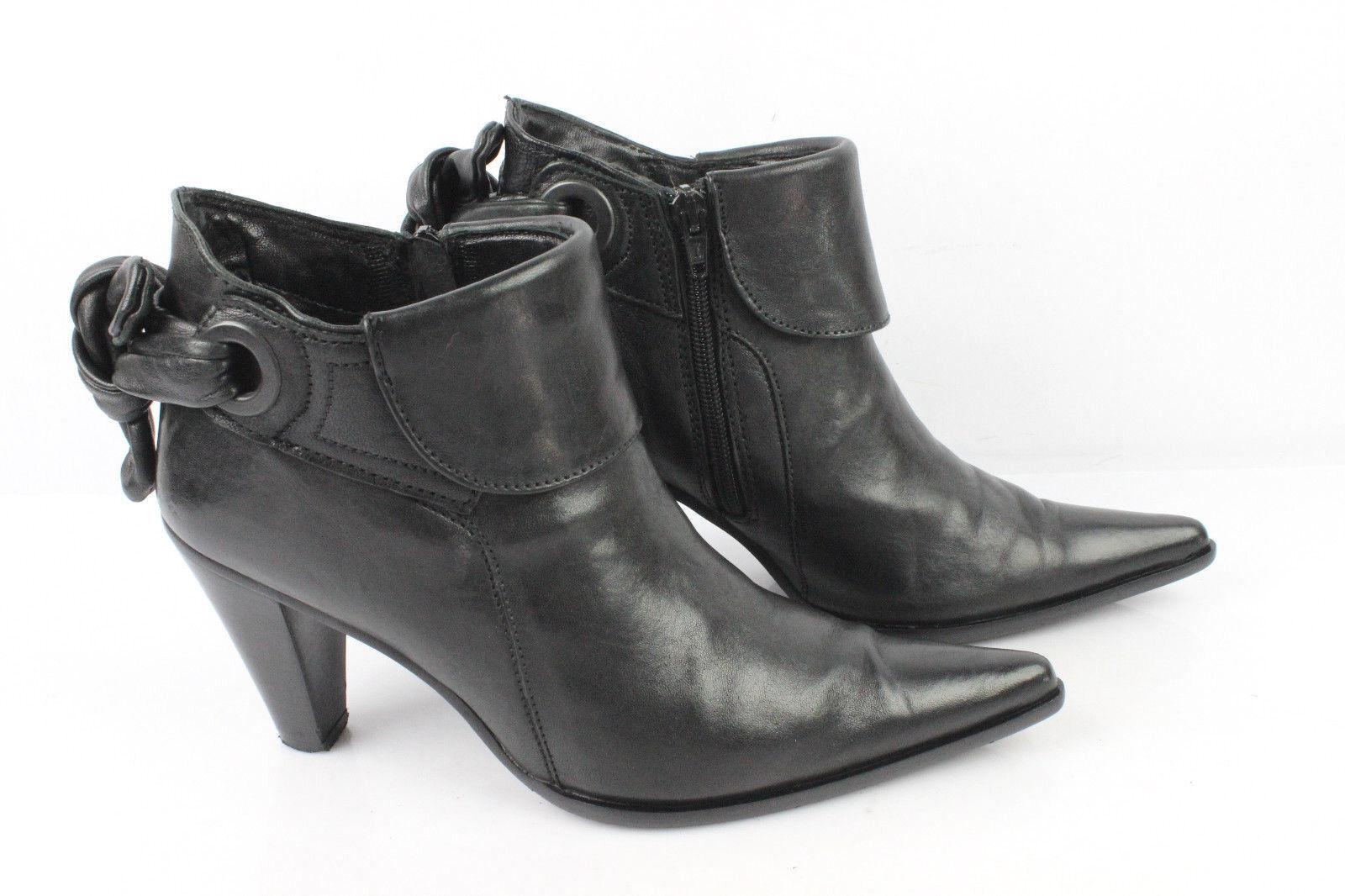 Bottines Boots DONN ADRIANA Cuir black T 38 TRES BON ETAT