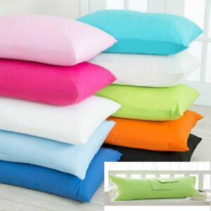 2X Pillow Case Luxury Fine Poly cotton Housewife Pair Pack Pillows Cover Cases