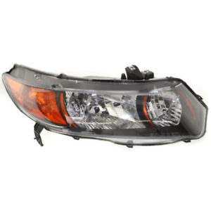 Fits 06-09 Honda Civic Coupe Si 2.0L Right Pass Headlamp Assembly w//Amber Signal