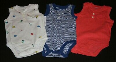 New Carter/'s 4 Pack Boys Bodysuits Tops NWT NB 9m Dinosaur Dino Stripes Solid