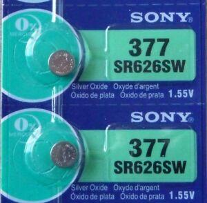 Silver oxyde Battery  1,55 V ou  377 2 Piles SONY   SR 626 SW