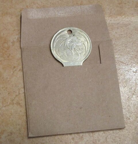 Wow! MGM Grand Hotel Casino Las Vegas Vintage hotel Room Key with Lions Head