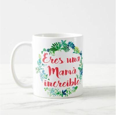 Resistente a lavabajillas y Microondas Taza Cerámica Regalo día de la Madre