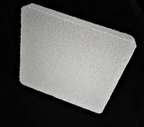 """7.875/"""" x 7.250/"""" x 1.00/"""" RETICULATED ZIRCONIA FILTER SETTER PLATE No. 594"""