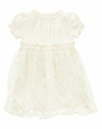 NWT Gymboree Fancy Dalmations Ivory Tulle Dot Dress 12 18 24mo Baby Girl