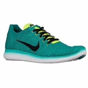Nike Flyknit Mens Shoes Black/Volt/Teal 831069 303 SIZE 10.5 (28.5CM)