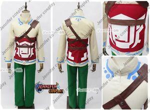 Legend of Zelda Skyward Sword Skyloft Link Cosplay Costume