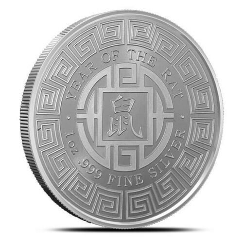 2020 Lunar Year of the Rat Mouse 1 oz .999 Fine Silver Round Coin bu IN-STOCK!