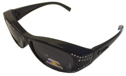 Figuretta Sonnenbrille Überbrille Strass Optik schwarz Werbung UV Brille Schutz