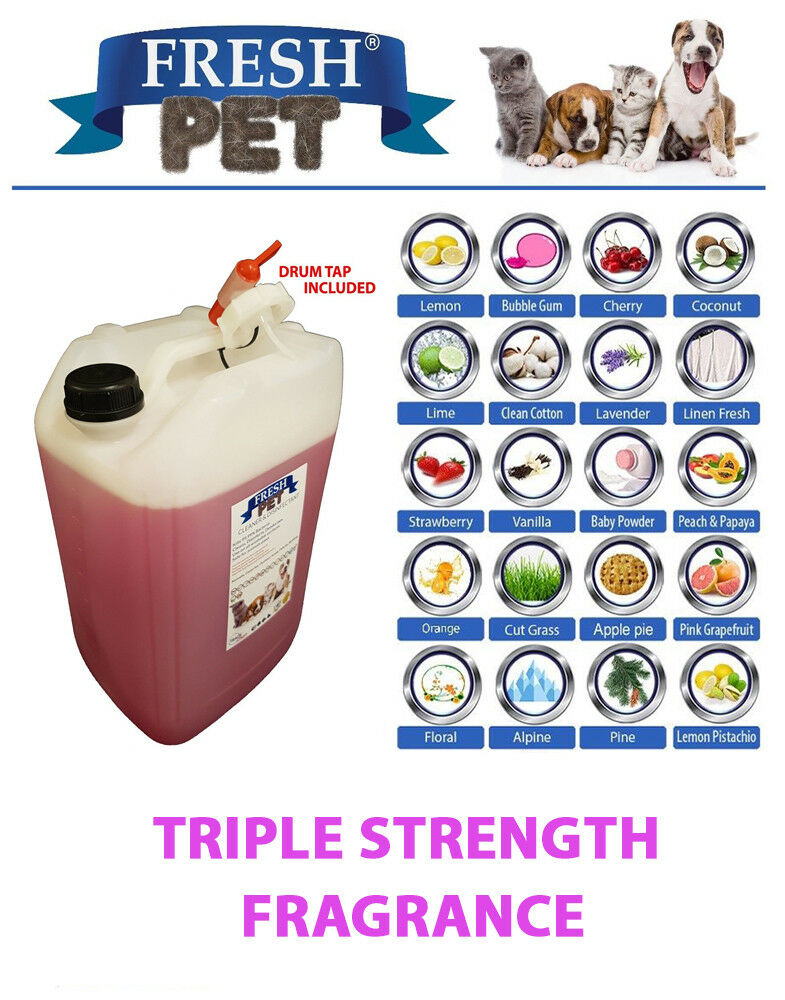 Pet Disinfectant Cleaner Sanitiser 20L with DRUM TAP Triple Strength Fragrance