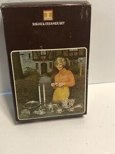 Vintage 1971 IRVINWARE Chrome sucrier, pot à lait & TRAY SET USA #2420 - NEUF (H)