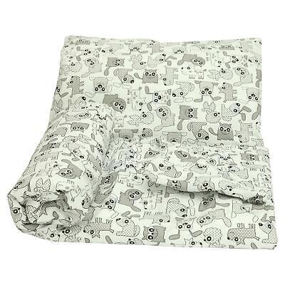2 Piece Duvet Cover /& Pillowase Set 135x100 cm for Cot Bed