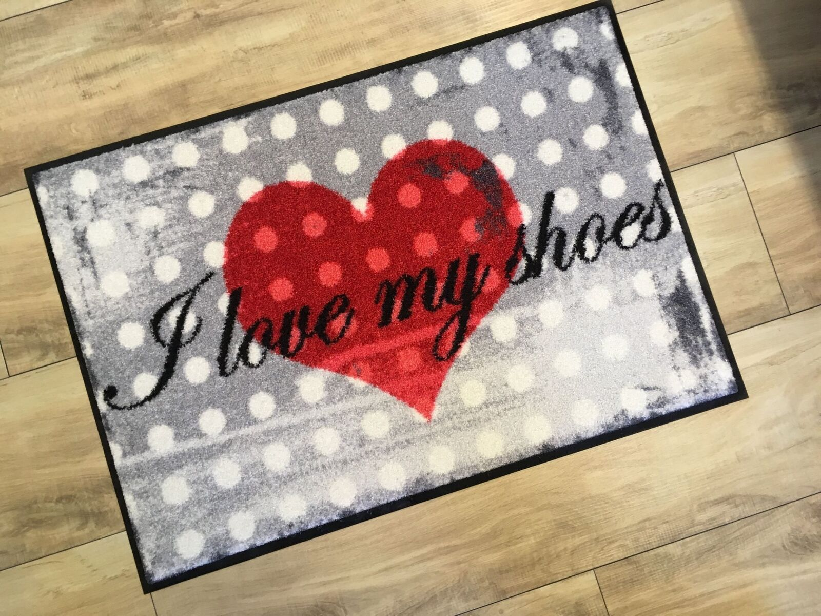 Leoni Tappetino I LOVE MY MY MY scarpe Lavabile Tappetino 50 x 75 cm Türvorleger 7e43b9