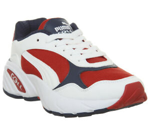 78b0e1f59f Details about Mens Puma Cell Viper Trainers Puma White High Risk Red  Trainers Shoes
