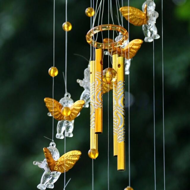 Amazing 4 Tubes Bell Wind Chimes Home Yard Garden Decor Outdoor Living Hanging