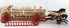 Vintage Cast Iron Toy Fire Engine 3 Moving Horses 2 Ladders Restoration Project