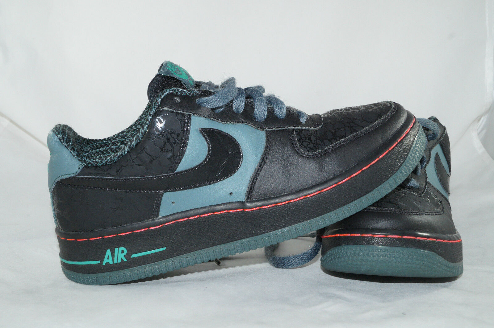 Nike Air Force 1 AF-1 Gr  37,5 Schwarz LOW TOPS