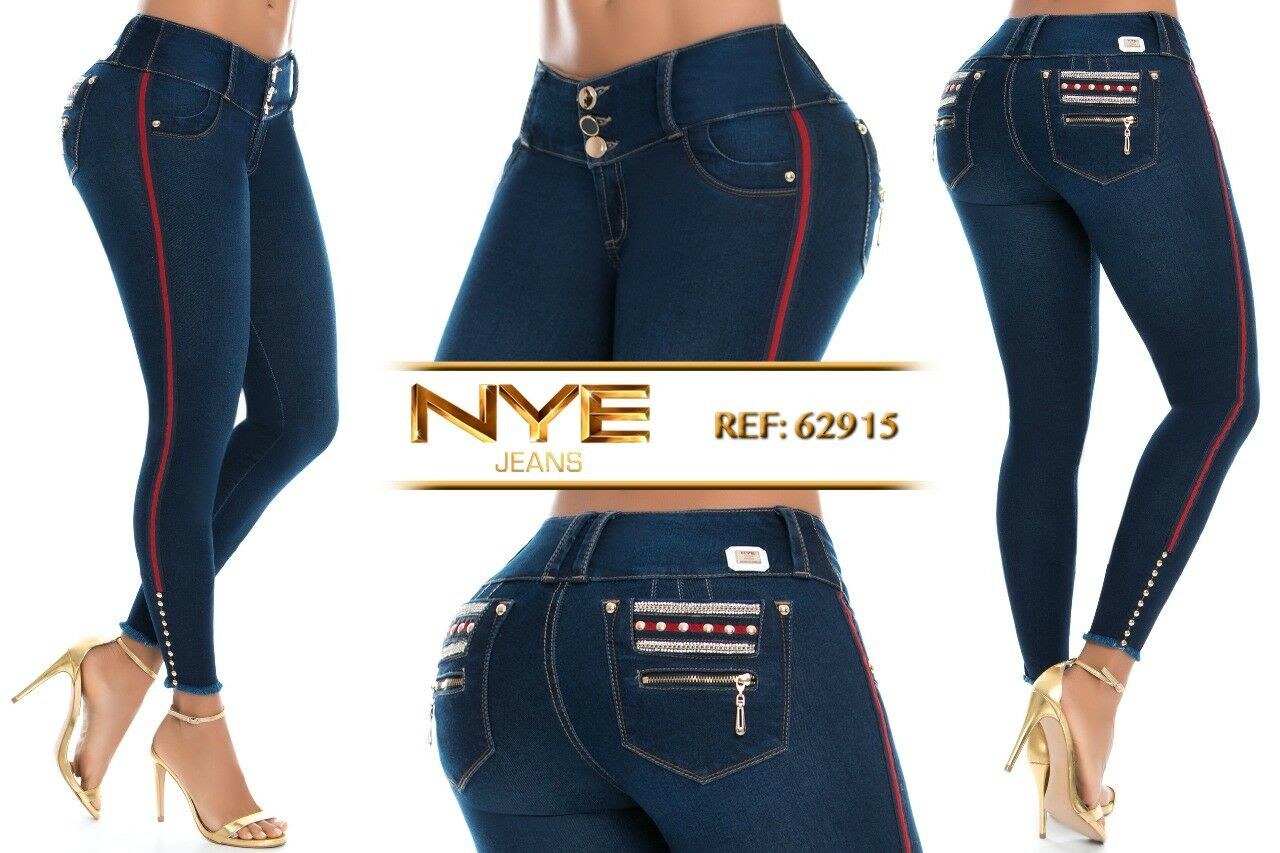 NYE, Jeans Colombianos, Authentic Colombian Push Up Jeans,Levanta Cola,Butt Lift