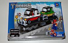 Ausini TRAINS Set#25412 Building Block Toy 186pcs track,city,car(lego compatible