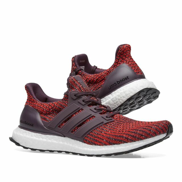 NEW Adidas Ultra Boost 4.0 Mens Running Shoes CP9248 Noble RedWhite ULTRABOOST