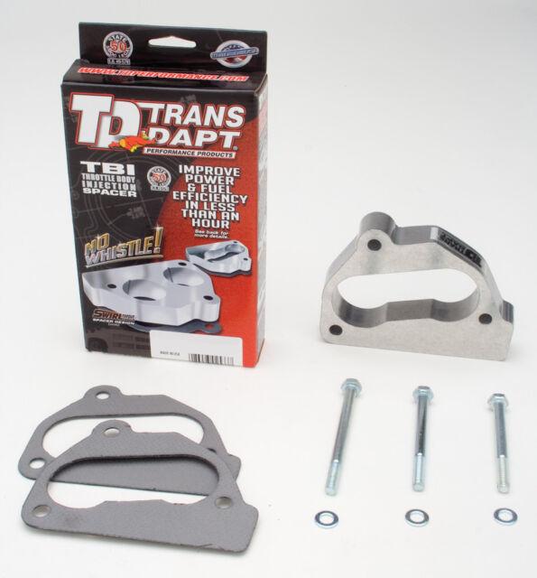"""Trans Dapt Throttle Body Spacer 2633; 1.000/"""" Aluminum for Chevy Trucks//SUVs"""
