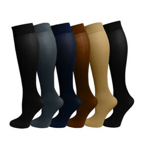 2-Pairs-Womens-Opaque-Plush-Fleece-Lined-Trouser-Socks-Knee-High-Stocking-Solid