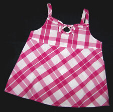 GYMBOREE CANDY APPLE PINK PLAID SWING TOP GIRLS 4 SUMMER