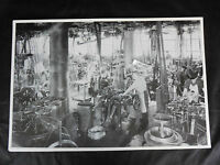 12 By 18 Black & White Picture - Old Machine Shop With All Belt Driven Machines