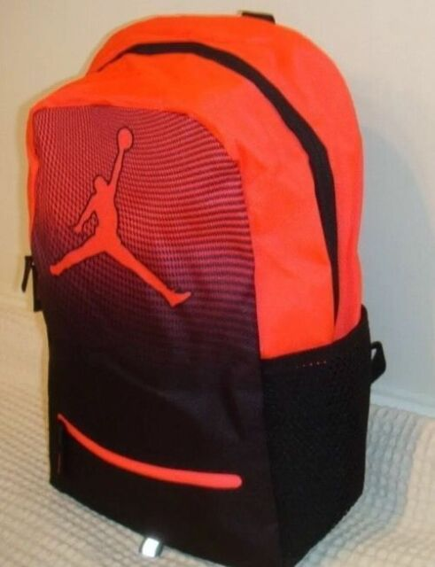 3897a6473f59 NIKE JORDAN JUMPMAN DAYBREAKER YOUTH BACKPACK BLACK RED Laptop 9A1836 NWT