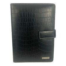 Franklin Covey Black Embossed Alligator Leather Weekly Planer With Compass System