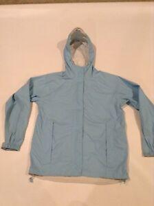 b34b5a0041d Details about L.L.Bean Trail Model Rain Waterproof Jacket Women's M Reg Sky  Blue Gently Used