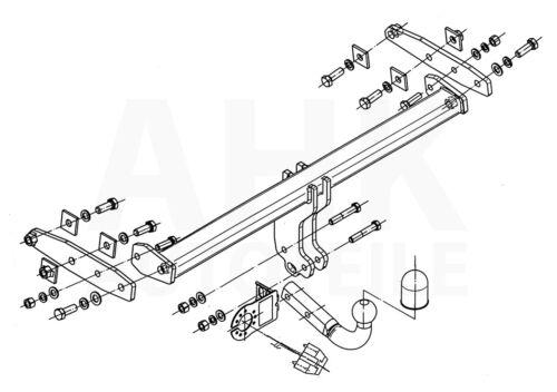 Volvo XC 60 12-17 Anhängerkupplung starr+ES 13p spez AHK Kpl.