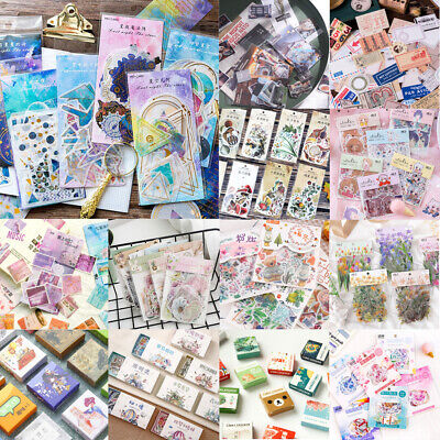 46x DIY Scrapbooking Stickers Album Diary Book Decor Planner Paper Label Sticker