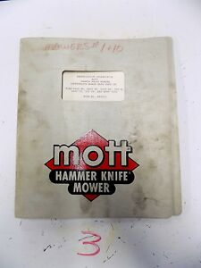 Sensational Mott Hammer Knife Mower Owners Parts Manual Ford 4000 4600 4610 Wiring 101 Ferenstreekradiomeanderfmnl