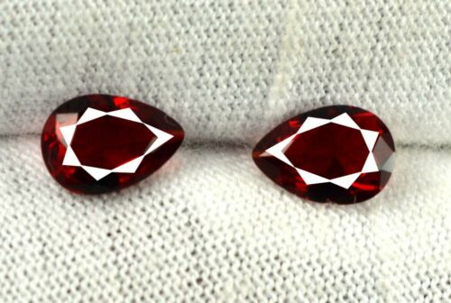 Gemstone Pair 1.05 Ct//6 mm Pear Tanzania Red Spinel 100/% Natural Certified SA07