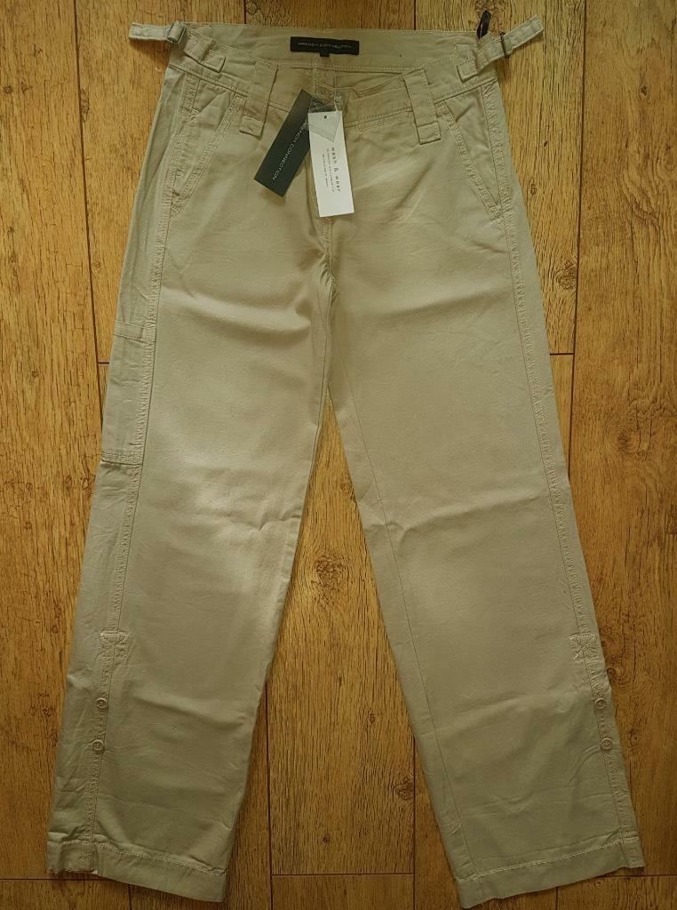 New Women's French Connection Trousers Jeans Wash & Wear L32  Cream Soda