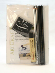 7-Piece-ArtGraf-Sketching-Kit-NEW-Artist-Quality-Charcoal-Carbon-pencils-amp-block