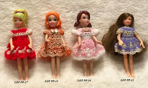 Clothes-for-3-1-2-034-Polly-Pocket-Doll-Handmade-Dress-Lot-4-D-Choose-1-OOAK