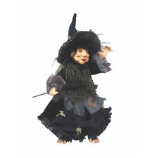 Witches of Pendle - Rosemary Kitchen Witch Hanging or Sitting (Green) 35cm