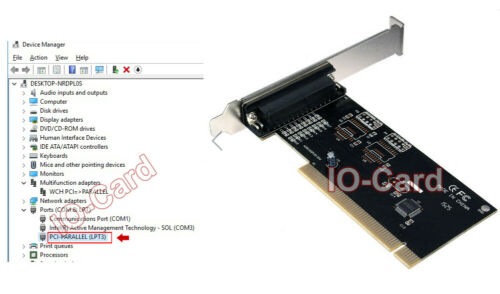 DB25 Pin Parallel LPT Port To PCI Adapter Card