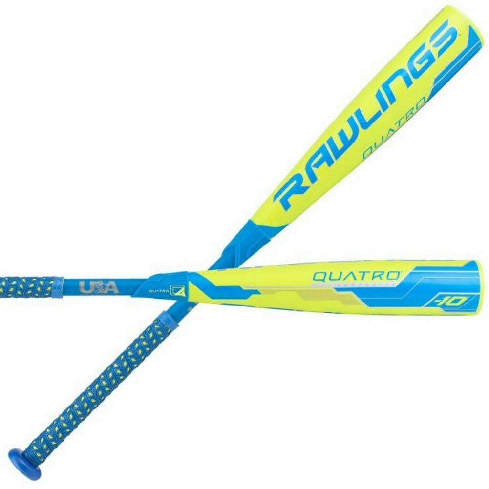 2018 Rawlings Quatro Composite USA 2-5 8  Big Barrel Baseball Bat, 32  22 oz