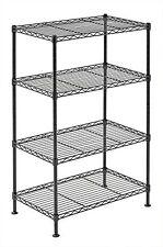 4 Tier Wire Shelving Rack Metal Shelf Adjustable Unit Garage Kitchen Storage NEW