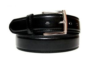 MEN-CASUAL-DRESS-Slim-LEATHER-BELT-BLACK-Sizes-34-36-38-40-42-44-48-52-56