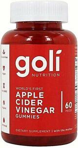 Goli Apple Cider Vinegar Gummies Vitamins , 60 Goli Gummies