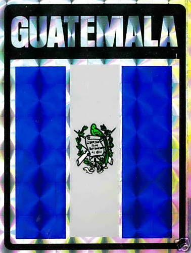República de Guatemala Flag Stickers LOT NEW Guatemala