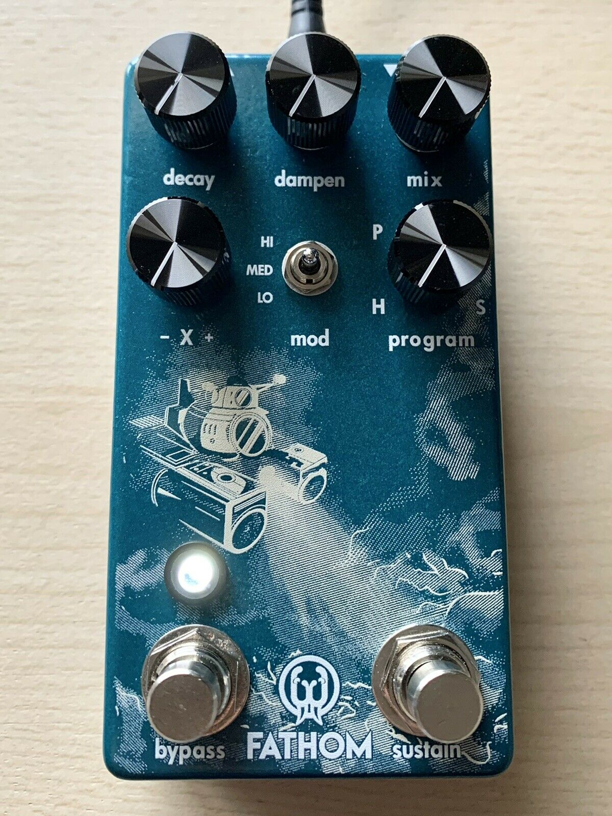 Walrus Audio Fathom Multi-Function Reverb Guitar Effect Pedal Made In USA - NEW