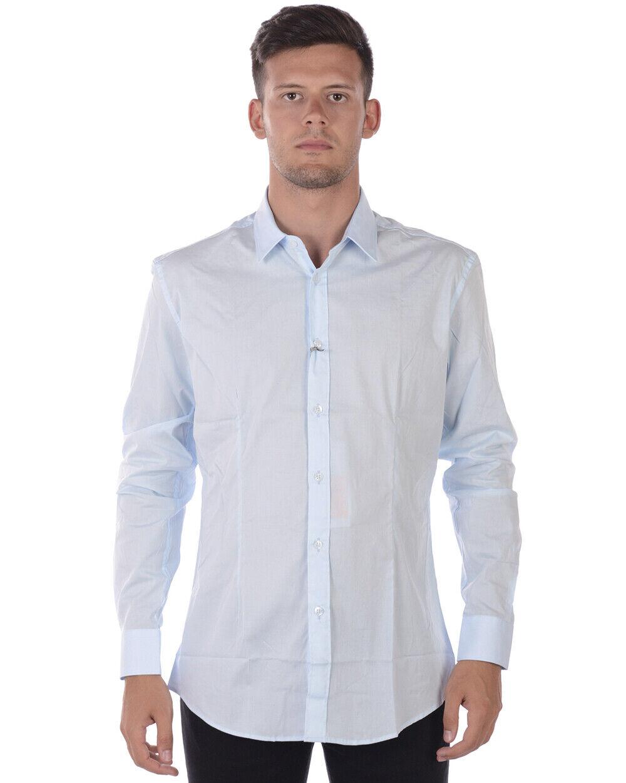 Daniele Alessandrini hemd Man Light Blau C1507B7513600 21 Sz. 41 PUT OFFER