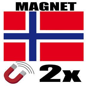 2-x-NORVEGE-Drapeau-Magnet-6x3-cm-Aimant-deco-magnetique-frigo